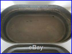 Vintage! SPORTSMAN Cover Griddle #3060 Cast Iron DEEP FISH FRYER (Made in USA)