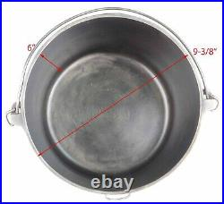 Vintage Slant EIRE Griswold No 7 (810) Cast Iron Flat Bottom Kettle Excel Cond