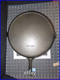 Vintage SuperSize #14 Wagner Ware Griswold 15 1/4 Cast Iron Skillet (4215)