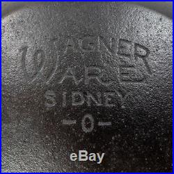 Vintage WAGNER WARE Stylized # 1386 Cast Iron CHEF SKILLET 9 FULLY RESTORED