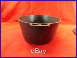 Vintage Wagner Ware #5 Cast Iron Cookware Drip Drop Oval Dutch Oven Roaster 1285