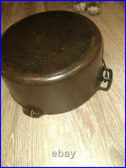 Vintage Wagner Ware Cast Iron Roaster Dutch Oven Pot 1268 C with o'brien Lid