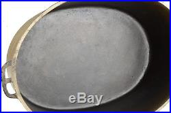 Vintage Wagner Ware Nickel Plated No 7 Cast Iron Oval Roaster Restored Condition