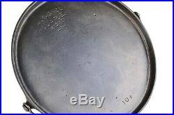 Vintage Wagner Ware No 10B Cast Iron Bail Round Griddle Excel Restored Condition