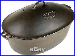 Vintage Wagner Ware No 9 (1289) Cast Iron Oval Roaster and (269) Aluminum Trivet