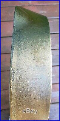 Vtg ERIE No 9 Pre Griswold Block Logo Cast Iron Skillet 713 c1892-1905 Heat Ring