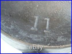Vtg ERIE Pre-Griswold #11 Skillet Cast Iron Fry Pan RARE