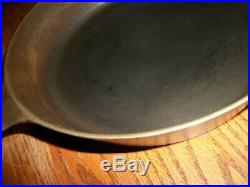 Vtg. ERIE Pre Griswold #8 Cast Iron Skillet withHeat Ring and Anchor Maker's Mark