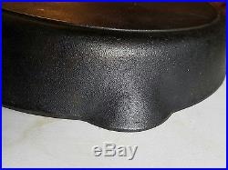 Vtg Griswold 14 Cast Iron Skillet Pan 718 B Block Logo Erie PA USA Heat Ring