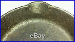 Vtg Griswold # 2 703 Cast Iron Skillet Large Block Logo Erie Pa USA Fry Pan Flat