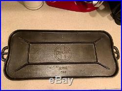 Vtg Griswold 8 Cast Iron Griddle 745 Lg logo slant