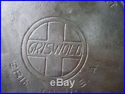 Vtg Griswold #9 Cast Iron Skillet Frying Pan Large Slant Logo 710-xi Heat Ring
