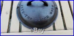 Vtg Griswold Cast Iron Tite Top Dutch Oven 6 HTF Rare Lid Trivet 204 2606A 2605