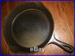 Vtg Griswold Large #10 Cast Iron Skillet 716A Small Block Logo/Very Lite Wobble