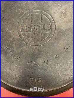 Vtgrare Griswold #12 Large Block Logo Cast Iron Skillet 719. Heat Ring