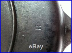 Wagner #8 10 1/2 Inch Skillet Cast Iron Pan Rare Heat Ring Unusual