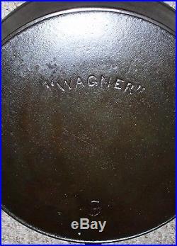 Wagner Cast Iron Skillets #8 #9 #12 Circa 1891-1910 (arc Logo) (lot Of 3)