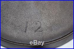 Wagner Sidney Script Hollowware Cast Iron #12 Skillet Circa 1880-1890s (rare)