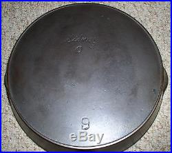 Wagner Sidney Script Hollowware Cast Iron #9 Skillet Circa 1890s (rare)