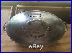 Wagner Ware # 5 Cast Iron Oval Roaster with Lid