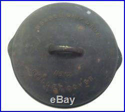 Wagner Ware Cast Iron Drip Drop Skillet Lid Cover No. 12 1072 A