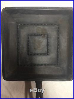 Wagner Ware Cast Iron Square Skillet With Lid- Rare