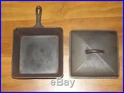 Wagner Ware Chicken Fryer / Square Skillet with Cover