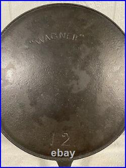 Wagner Ware Sidney Cast Iron Skillet No. #12 Arc Logo 1895-1910 14