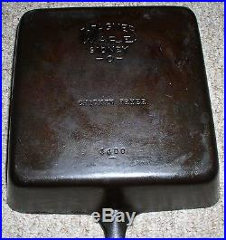 Wagner Ware Sidney-o- Cast Iron Square Chicken Fryer #1400