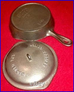 Wagner Ware cast iron Toy / Salesman Skillet and Cover