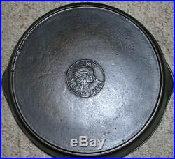 Wapak #9 Cast Iron Indian Head Skillet Circa 1903-1926