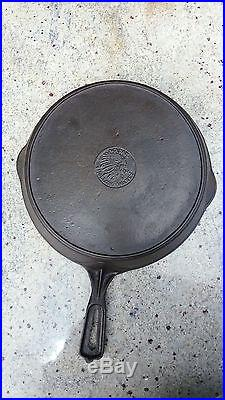 Wapak #. 9 Cast Iron Skillet Indian Head Logo