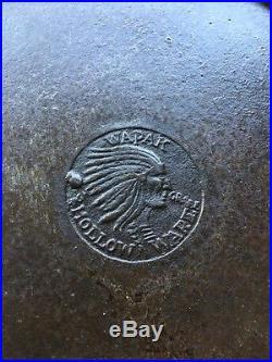 Wapak INDIAN #7/8/9 Cast Iron Skillet CRISP Indian Logo Heat Ring Buying All 3