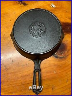Wapak Indian Head Cast Iron Skillet Size 5