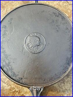 Wapak Indian Head Hollow Ware Cast Iron Skillet 9