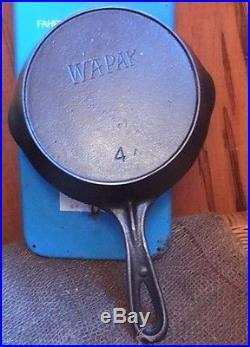 Wapak No 4 Cast Iron Skillet Rare Wonderful Restored Ready Seasoned Lovely Iron
