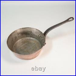 Williams Sonoma Mauviel Copper 9.5 Windsor Pot Saucepan Cast Iron Handle FRANCE